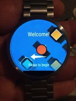 Moto 360 silver stainless steel