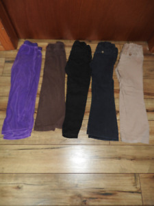 Five pairs size 5 girls pants