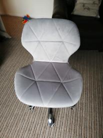 Velvet desk chair