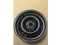 Steel 17 inch spare wheel. As new. All suitable vehicles listed