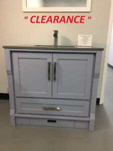 "36"" SOLID WOOD Bathroom Vanity ( CLEARANCE)"