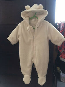 Brand new 3-6 months lined suit