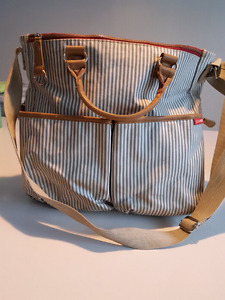 Skip hop diaper bag / french stripe