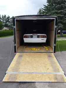 Transport remorquage vehicule remorque 20 pieds