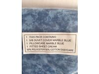 Single Duvet Cover Fitted Sheet, & Pillowcase