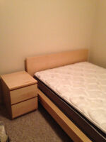 1 IKEA queen bed set and other queen bed with coil mattress