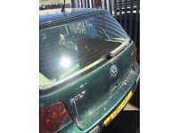 Volkswagen golf mk4 dark green bootlid