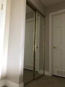 Sliding Closet Doors with mirror for sale.