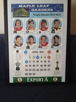 1974 EXPORT A CALENDER ( TROPHY WINNERS)