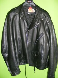 Size 50 Tall - Classic Style Leather Jacket at RE-GEAR
