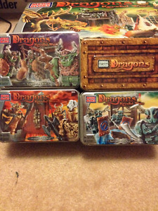 Mega Bloks Dragons war chests:Vorgan,Draigar, Norvagen. $25 all