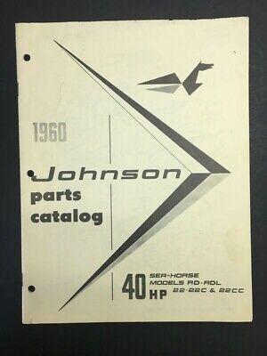 1960 Johnson 40 HP Motor Parts -