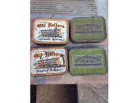 Four vintage tobacco boxes