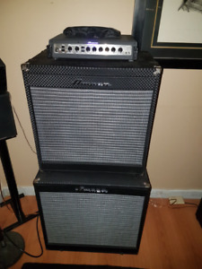 Ampeg Portaflex 500 stack with PF-115 LF & PF 210 HE cabinets