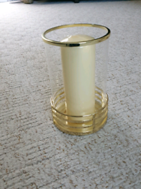 Dunelm hurricane candle holder and pillar candle