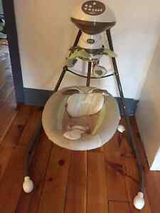 Almost new Fisher Price Swing - SnugaBunny Cradle Swing