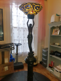 Tiffany style standing lamp