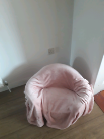 Pink dog cuddle chair