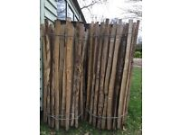 Cleft chestnut fencing and posts