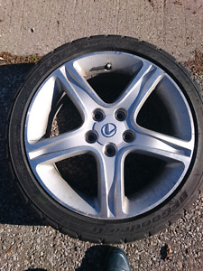 Lexus IS300 Alloy Wheels/Rims & Almost new Tires