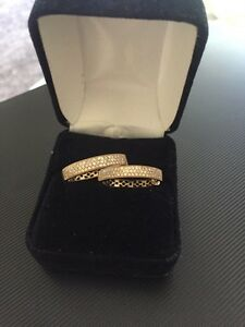 Beautiful gold diamond hoops