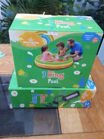 NEW paddling pool & Pump £12