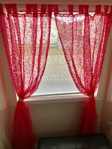 Pink- sheer curtains