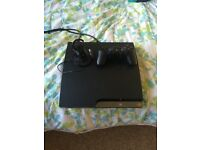 PS3 with 1 controller and headset