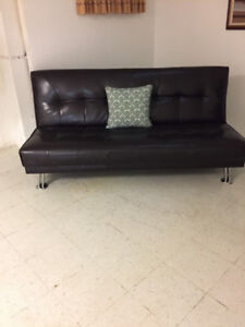 Leather Sofa (Futon) for Sale