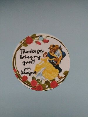 12 Personalized Beauty and the Beast Belle birthday party favor tags! Princess (Beauty And The Beast Party)