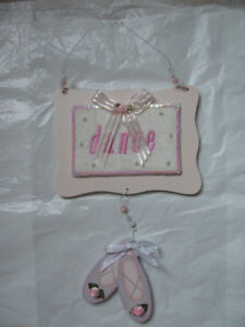 Wooden Hanging Dance Sign, 8 x 17 x 0.5 inch