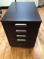 IKEA drawer unit on casters, black-brown