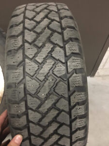 SnowTracker 4 Winter Tires 205/65/R15 Like New (Used half a seas