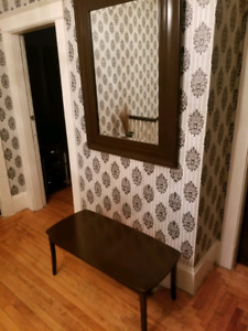 Matching mirror and table $40