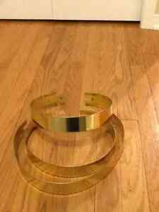 Decorative Brass Stove Pipe Bands - REDUCED