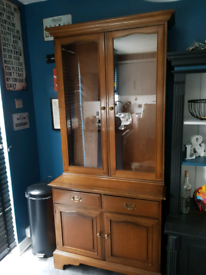 SOLD Lovely stag 2 piece kitchen unit