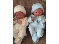 Life like baby twin dolls