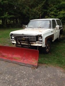 73 blazer 4x4 with plow  yard truck
