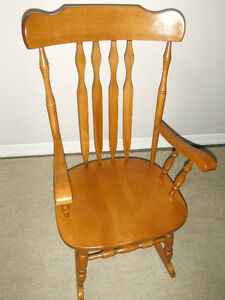 Solid Maple Rocking Chair, Delivered