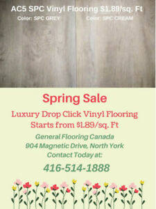 Luxury Click Vinyl Flooring Starts From $1.89/sq. Ft Only!