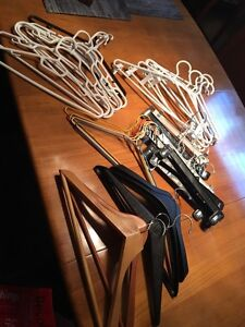 35 hangers for coats, skirt hangers, pant hangers etc