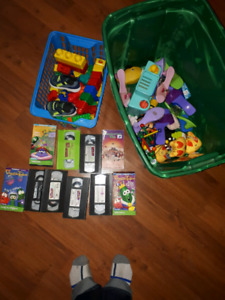 Free lot of kids toys kids movies Legos