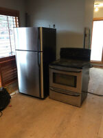 Stainless steel stove & refrigerator