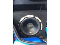 Vibe slick 1200watt sub with built in amp