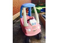 Little tikes pink car great condition