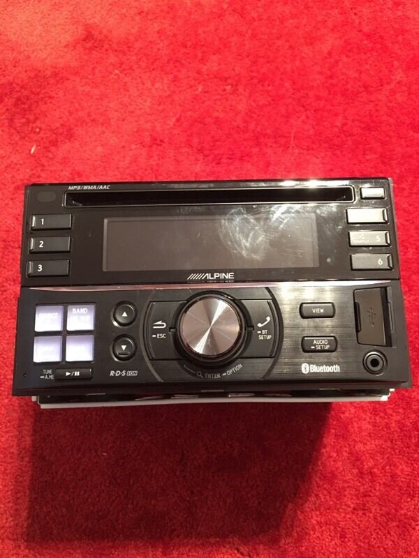 alpine double din car stereo with parrot bluetooth in sheldon west midlands gumtree. Black Bedroom Furniture Sets. Home Design Ideas