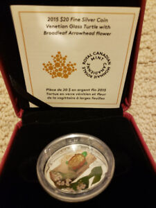 $20 venetian Glass Turtle coin - Royal Canadian Mint
