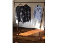 Copper pipe clothes rail - industrial chic
