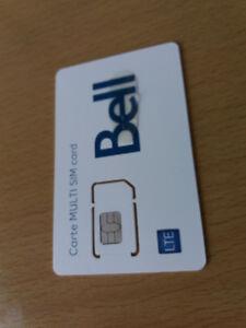 carte Multi SIM Bell