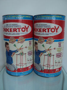 2 VINTAGE HASBRO THE CLASSIC TINKERTOY CONSTRUCTION SETS Cornwall Ontario image 1